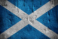 Flag of scotland overlaid with grunge texture Royalty Free Stock Images