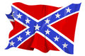 Flag series: Confederate flag Royalty Free Stock Photo