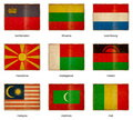 Flag set 12 Royalty Free Stock Photos
