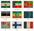 Flag set 7 Royalty Free Stock Photography