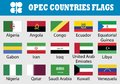 Flag set of OPEC Countries
