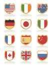 Flag shields Stock Photos