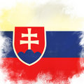 Flag of slovakia Stock Images