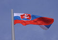 Flag of slovakia over blue sky Royalty Free Stock Images