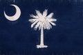 Flag of South Carolina Grunge