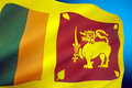 Flag of sri lanka the also called the lion consists a gold lion holding a kastane sword in its right fore paw in front Stock Image