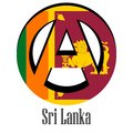 Flag of Sri Lanka of the world in the form of a sign of anarchy