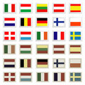 Flag stamps set Royalty Free Stock Image