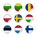 Flag stickers set 3