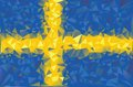 Flag sweden swedish grunge mosaic geometric pattern banner triangle vector Stock Photo