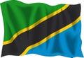 Flag tanzanian 库存照片