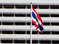 Flag of thailand blowing in the wind Royalty Free Stock Image