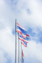 The flag thailand nation background sky and clouds Stock Photography