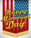 Flag to Honor Heroes in Memorial Day, Vector Illustration