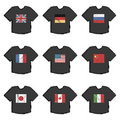 Flag tshirts Royalty Free Stock Image