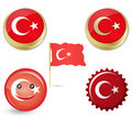 Flag of turkey Stock Images