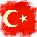 Flag of turkey Royalty Free Stock Photo