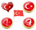 Flag of turkey and Ataturk Royalty Free Stock Images