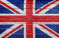 Flag of the UK on brick wall Royalty Free Stock Images