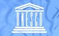 Flag of UNESCO Royalty Free Stock Photo