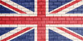 Flag of united kingdom painted. Royalty Free Stock Photo