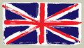 Flag of united kingdom in painting brush style Stock Image