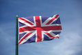 The flag of United Kingdom Royalty Free Stock Photo