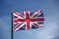 The flag of United Kingdom Royalty Free Stock Photo
