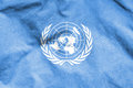 Flag of United Nations. Royalty Free Stock Photo