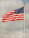 Flag of the united states and sky Stock Images