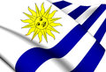 Flag of uruguay close up Stock Photos