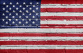 Flag of the USA on brick wall Royalty Free Stock Photography