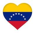 Flag of Venezuela heart