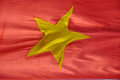 The flag of vietnam a yellow star on red background in saigon Royalty Free Stock Photography