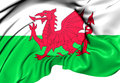 Flag of wales close up Royalty Free Stock Photo