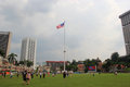 Flagpole at merdeka square kuala lumpur malaysia april the meter worlds tallest is located where the malayan flag was hoisted for Royalty Free Stock Photo