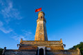 The flagpole in Namdinh, Vietnam Royalty Free Stock Photo