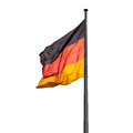 Flagpole with state flag of germany outdoors Royalty Free Stock Images