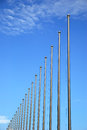 Flagpole under the blue sky Royalty Free Stock Images