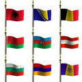 Flags Royalty Free Stock Photo
