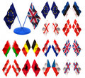 Flags. 3d Royalty Free Stock Image