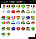 Flags of Africa Royalty Free Stock Images