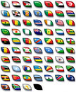 Flags of Africa 2 Stock Photo