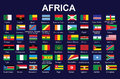 Flags of Africa Royalty Free Stock Image