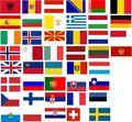 Flags of all European country Royalty Free Stock Photos
