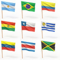 Flags of american country. Collection 3. Stock Photo