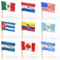 Flags of american country. Collection 4. Stock Photography