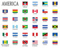 Flags of Americas Royalty Free Stock Photo