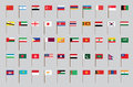 Flags of Asia Royalty Free Stock Photo