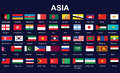 Flags of Asia Royalty Free Stock Images